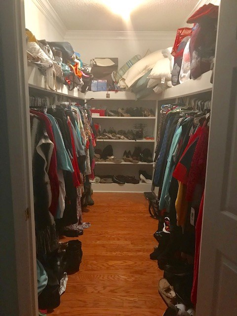 Master closet #1 12 feet long 7 feet wide